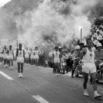船坂峠での東京オリンピック聖火リレー